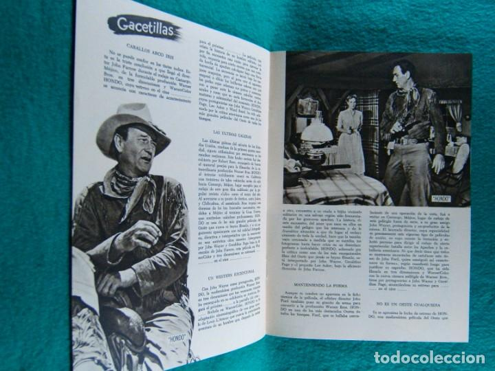 Cine: HONDO-JOHN FARROW-GERALDINE PAGE-JOHN WAYNE-WARD BOND-MICHAEL PATE-3 DIMENSIONES 3-D-16 PAGINAS-1954 - Foto 2 - 193211451