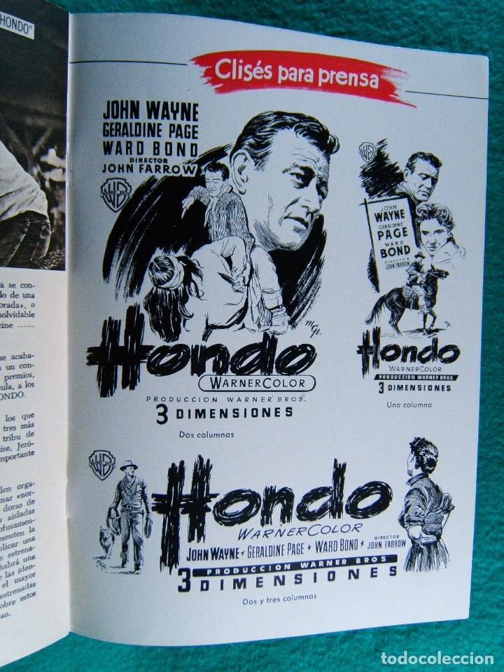 Cine: HONDO-JOHN FARROW-GERALDINE PAGE-JOHN WAYNE-WARD BOND-MICHAEL PATE-3 DIMENSIONES 3-D-16 PAGINAS-1954 - Foto 3 - 193211451