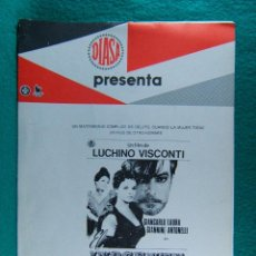 Cine: EL INOCENTE-L'INNOCENTE-LUCHINO VISCONTI-GIANCARLO GIANNINI-LAURA ANTONELLI-¡¡¡28 PAGINAS!!!-1976. . Lote 193369645
