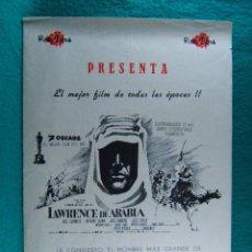 Cine: LAWRENCE DE ARABIA-DAVID LEAN-ALEC GUINNES-ANTOHONY QUINN-PETER O'TOOLE-7 OSCARS-4 PAGINAS-1962. . Lote 193568940
