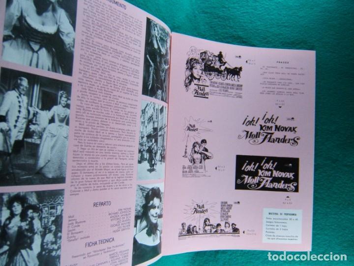 Cine: MOLL FLANDERS-TERENCE YOUNG-KIM NOVAK-RICHARD JOHNSON-ANGELA LANSBURY-6 PAGINAS-1965. - Foto 3 - 194131341