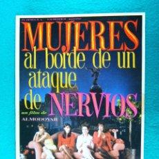 Cinéma: MUJERES AL BORDE DE UN ATAQUE DE NERVIOS-PEDRO ALMODOVAR-CARMEN MAURA-ANTONIO BANDERAS-8 PAGINA-1988. Lote 194177353