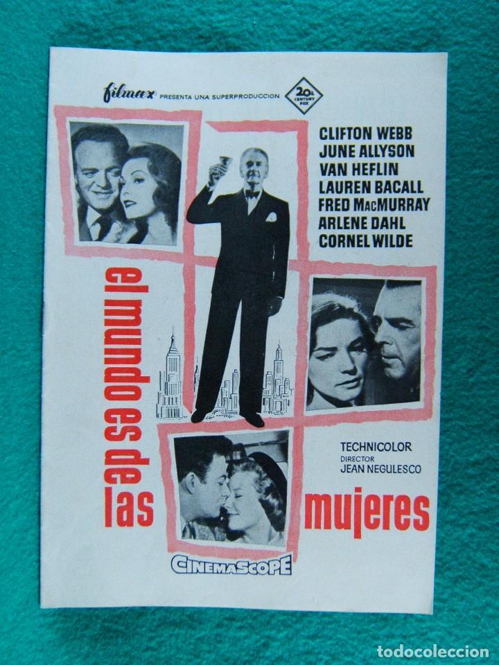 EL MUNDO ES DE LAS MUJERES-WOMAN'S WORLD-JEAN NEGULESCO-CLIFTON WEBB-JUNE ALLYSON-16 PAGINAS-1954. (Cine - Guías Publicitarias de Películas )