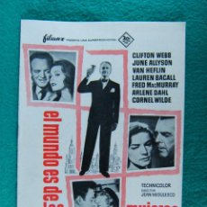 Cine: EL MUNDO ES DE LAS MUJERES-WOMAN'S WORLD-JEAN NEGULESCO-CLIFTON WEBB-JUNE ALLYSON-16 PAGINAS-1954. . Lote 194178993