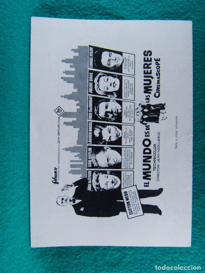 Cine: EL MUNDO ES DE LAS MUJERES-WOMANS WORLD-JEAN NEGULESCO-CLIFTON WEBB-JUNE ALLYSON-16 PAGINAS-1954. - Foto 4 - 194178993