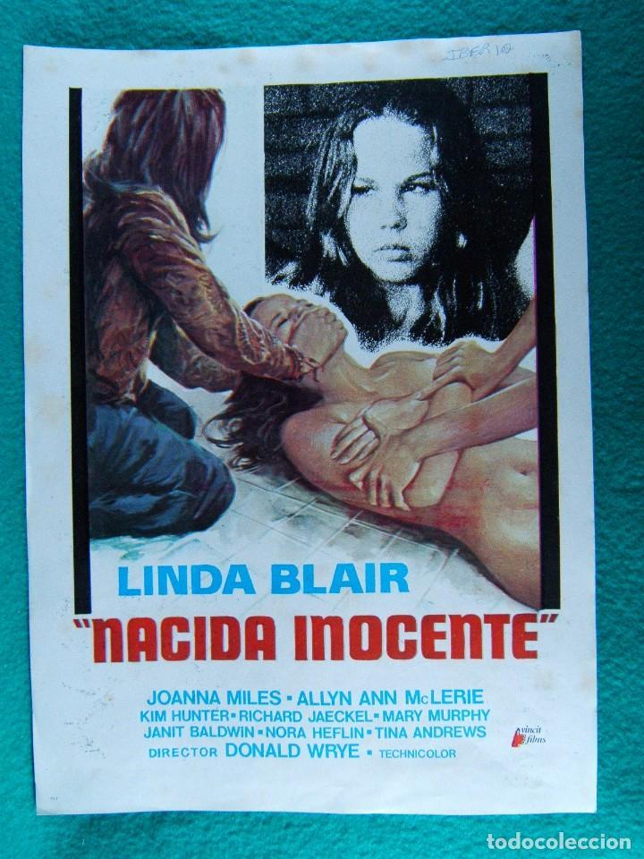 NACIDA INOCENTE-BORN INNOCENT-DONALD WRYE-LINDA BLAIR-JOANNA MILES-ALLYN ANN MCLERIE-2 PAGINAS-1976. (Cine - Guías Publicitarias de Películas )
