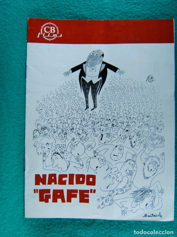 NACIDO GAFE-IL SECONDO TRAGICO FANTOZZI-LUCIANO SALCE-PAOLO VILLAGGIO-ILUSTRA MUNTAÑOLA-8 PAGIN-1977 (Cine - Guías Publicitarias de Películas )