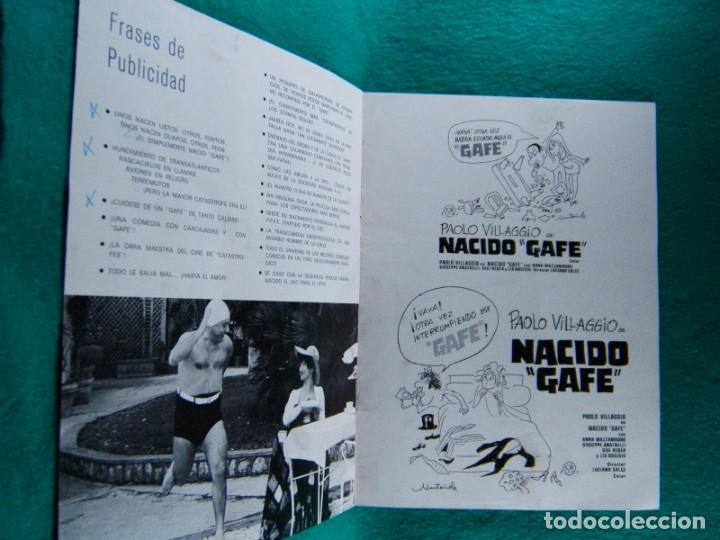 Cine: NACIDO GAFE-IL SECONDO TRAGICO FANTOZZI-LUCIANO SALCE-PAOLO VILLAGGIO-ILUSTRA MUNTAÑOLA-8 PAGIN-1977 - Foto 2 - 194221553
