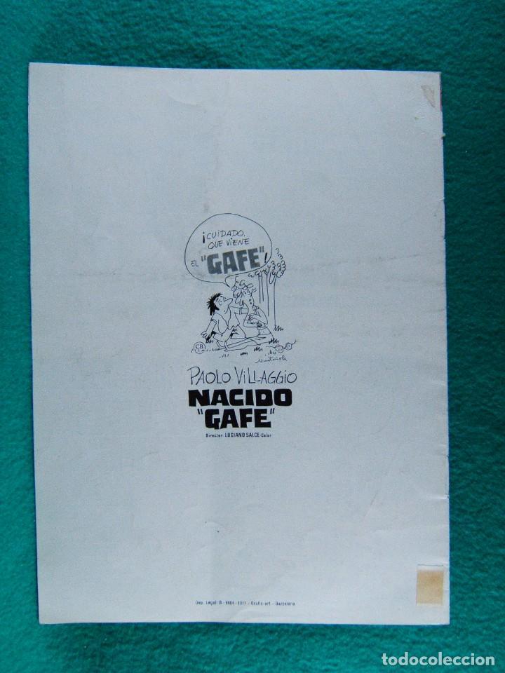 Cine: NACIDO GAFE-IL SECONDO TRAGICO FANTOZZI-LUCIANO SALCE-PAOLO VILLAGGIO-ILUSTRA MUNTAÑOLA-8 PAGIN-1977 - Foto 3 - 194221553