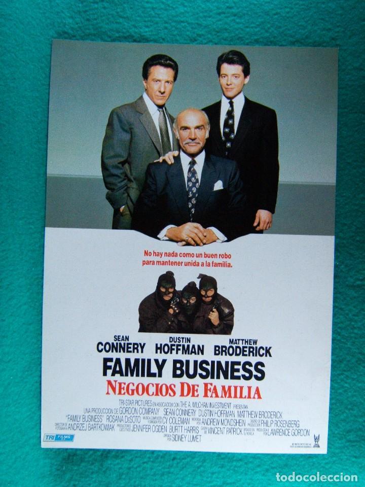 FAMILIA BUSINESS-NEGOCIOS DE FAMILIA-SIDNEY LUMET-SEAN CONNERY-DUSTIN HOFFMAN-2 PAGINAS-1989. (Cine - Guías Publicitarias de Películas )