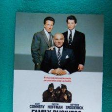 Cine: FAMILIA BUSINESS-NEGOCIOS DE FAMILIA-SIDNEY LUMET-SEAN CONNERY-DUSTIN HOFFMAN-2 PAGINAS-1989. . Lote 194225385