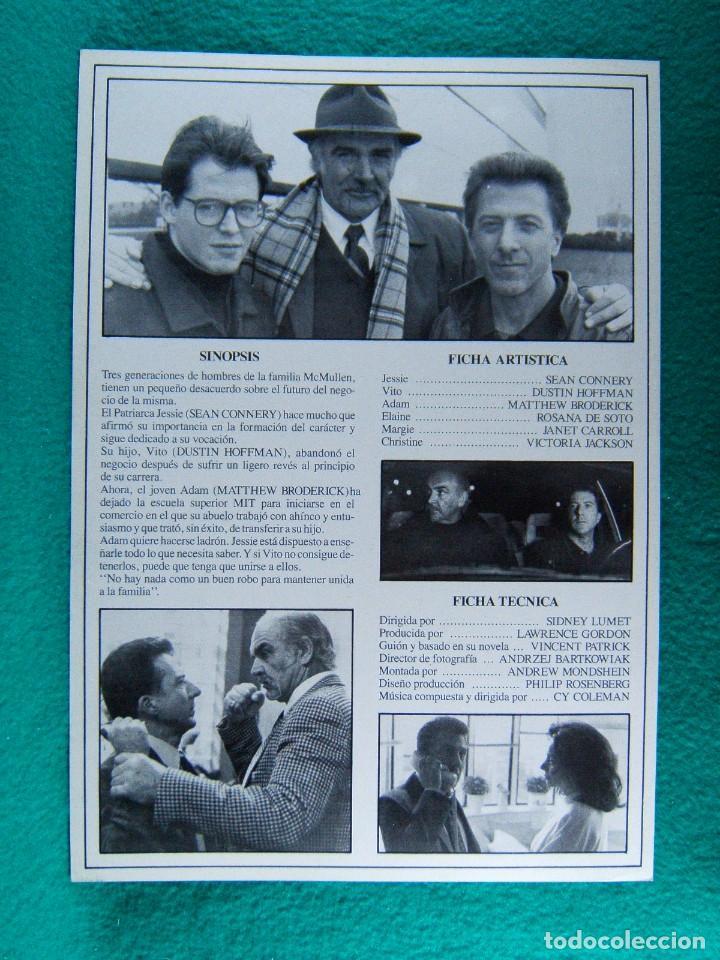Cine: FAMILIA BUSINESS-NEGOCIOS DE FAMILIA-SIDNEY LUMET-SEAN CONNERY-DUSTIN HOFFMAN-2 PAGINAS-1989. - Foto 2 - 194225385