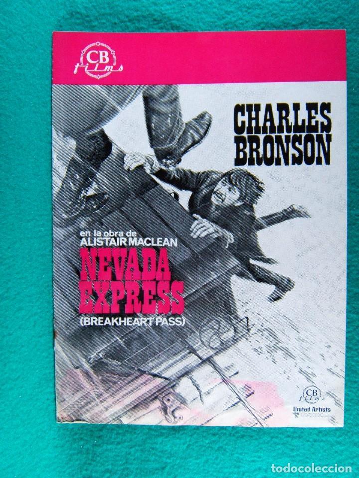 NEVADA EXPRESS-BREAKHEART PASS-TOM GRIES-CHARLES BRONSON-BEN JOHNSON-8 PAGINAS-1976. (Cine - Guías Publicitarias de Películas )