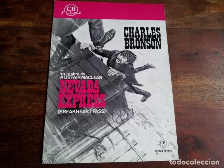 NEVADA EXPRESS - CHARLES BRONSON, ED LAUTER, JILL IRELAND - GUIA ORIGINAL CB FILMS AÑO 1976 (Cine - Guías Publicitarias de Películas )