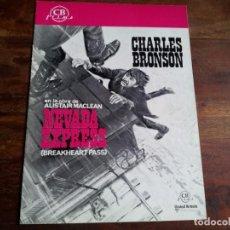 Cine: NEVADA EXPRESS - CHARLES BRONSON, ED LAUTER, JILL IRELAND - GUIA ORIGINAL CB FILMS AÑO 1976. Lote 194235902