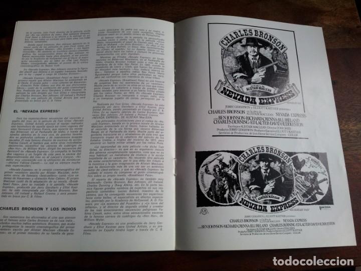 Cine: nevada express - charles bronson, Ed Lauter, Jill Ireland - guia original cb films año 1976 - Foto 4 - 194235902