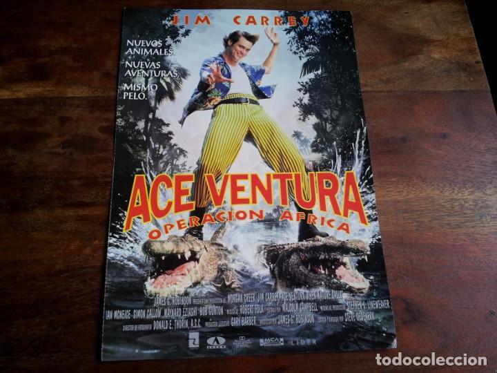 ACE VENTURA OPERACION AFRICA - JIM CARREY, IAN MCNEICE, SIMON CALLOW - GUIA ORIGINAL LIDER AÑO 1995 (Cine - Guías Publicitarias de Películas )
