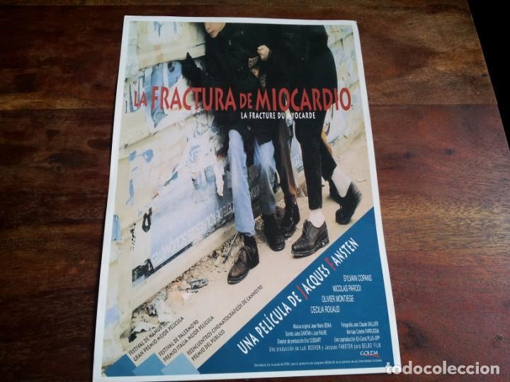 LA FRACTURA DE MIOCARDIO - SYLVAIN COPANS, NICOLAS PARODI - GUIA ORIGINAL GOLEM AÑO 1990 (Cine - Guías Publicitarias de Películas )