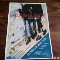 Cine: LA FRACTURA DE MIOCARDIO - SYLVAIN COPANS, NICOLAS PARODI - GUIA ORIGINAL GOLEM AÑO 1990. Lote 194236386