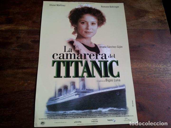 LA CAMARERA DEL TITANIC - OLIVIER MARTINEZ, AITANA SANCHEZ-GIJON - GUIA ORIGINAL ALTA AÑO 1997 (Cine - Guías Publicitarias de Películas )