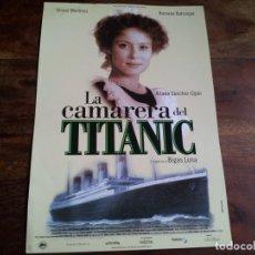 Cine: LA CAMARERA DEL TITANIC - OLIVIER MARTINEZ, AITANA SANCHEZ-GIJON - GUIA ORIGINAL ALTA AÑO 1997. Lote 194236616