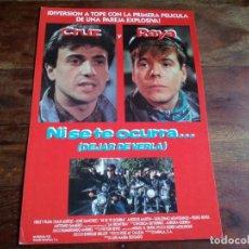 Cine: NI SE TE OCURRA DEJAR DE VERLA - CRUZ Y RAYA, PEDRO REYES - GUIA ORIGINAL WARNER AÑO 1990. Lote 194236880