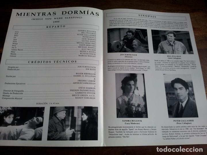 Cine: mientras dormias - Sandra Bullock, Bill Pullman, Peter Gallagher - guia original lauren año 1995 - Foto 2 - 194237135