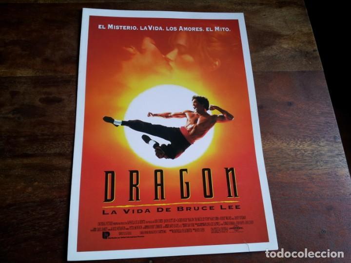 DRAGON LA VIDA DE BRUCE LEE - JASON SCOTT LEE, LAUREN HOLLY - GUIA ORIGINAL U.I.P AÑO 1993 (Cine - Guías Publicitarias de Películas )