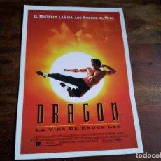 Cine: DRAGON LA VIDA DE BRUCE LEE - JASON SCOTT LEE, LAUREN HOLLY - GUIA ORIGINAL U.I.P AÑO 1993. Lote 194237318