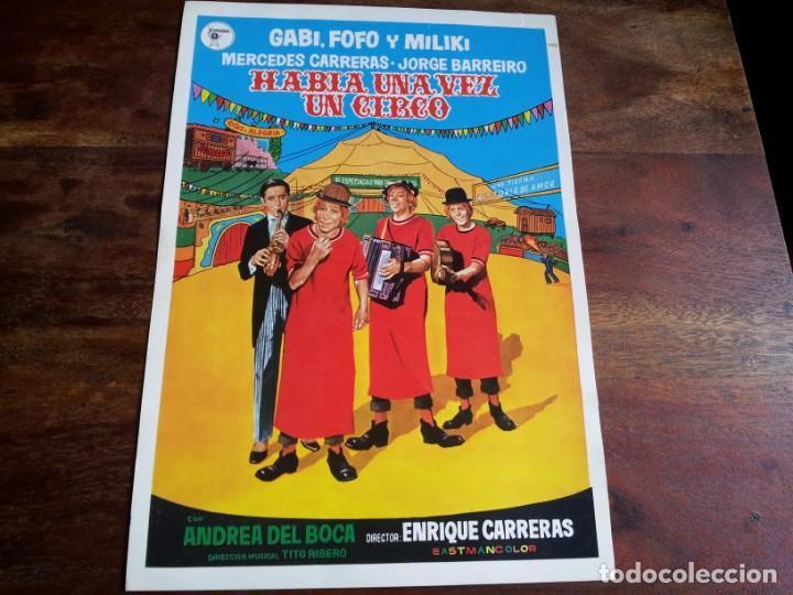 HABIA UNA VEZ UN CIRCO - GABI, FOFO, MILIKI, FOFITO - GUIA ORIGINAL JUVENSA AÑO 1972 (Cine - Guías Publicitarias de Películas )