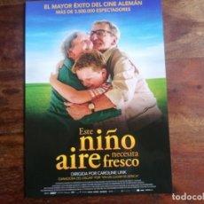 Cine: ESTE NIÑO NECESITA AIRE FRESCO - JULIUS WECKAUF, LUISE HEYER - GUIA ORIGINAL WANDA AÑO 2019. Lote 194248218
