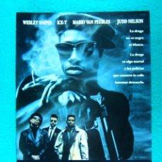Cine: NEW JACK CITY-MARIO VAN PEEBLES-WESLEY SNIPES-ICE T-JUDD NELSON-CHRIS ROCK-2 PAGINAS-1991. . Lote 194289380