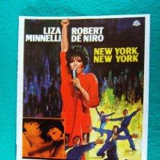 Cine: NEW YORK-NEW YORK-NUEVA-MARTIN SCORSESE-LIZA MINNELLI-ROBERT DE NIRO-JOHN KANDER-FRED EBB-12 PA-1977. Lote 194290022