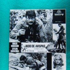 Cine: NIDO DE AVISPAS-HORNETS' NEST-PHIL KARLSON-FRANCO CIRINO-ROCK HUDSON-SYLVA KOSCINA-6 PAGINAS-1970. . Lote 194290490