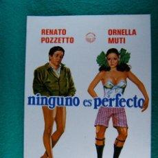 Cine: NINGUNO ES PERFECTO-PASQUALE FESTA CAMPANILE-RENATO POZZETTO-ORNELLA MUTI-NILA VOLONGEI-2 PAGI-1982.. Lote 194290997