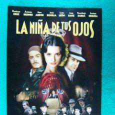 Cine: LA NIÑA DE TUS OJOS-FERNANDO TRUEBA-PENELOPE CRUZ-ANTONIO RESINES-NEUS ASENSI-LOLES LEON-2 PAGI-1998. Lote 194291422