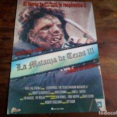 Cine: LA MATANZA DE TEXAS III - KATE HODGE, KEN FOREE, VIGGO MORTENSEN - GUIA ORIGINAL FILMAX AÑO 1990. Lote 194338323