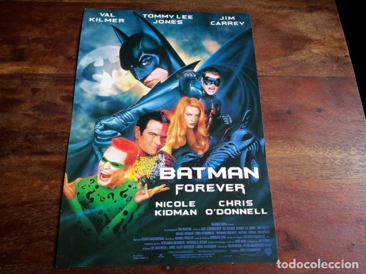 BATMAN FOREVER - VAL KILMER, NICOLE KIDMAN, CHRIS O'DONNELL - GUIA ORIGINAL WARNER AÑO 1995 (Cine - Guías Publicitarias de Películas )