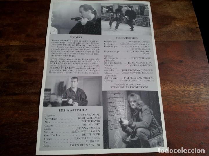 Cine: señalado por la muerte - steven seagal, joanna pacula, keith david - guia original fox año 1990 - Foto 2 - 194339525