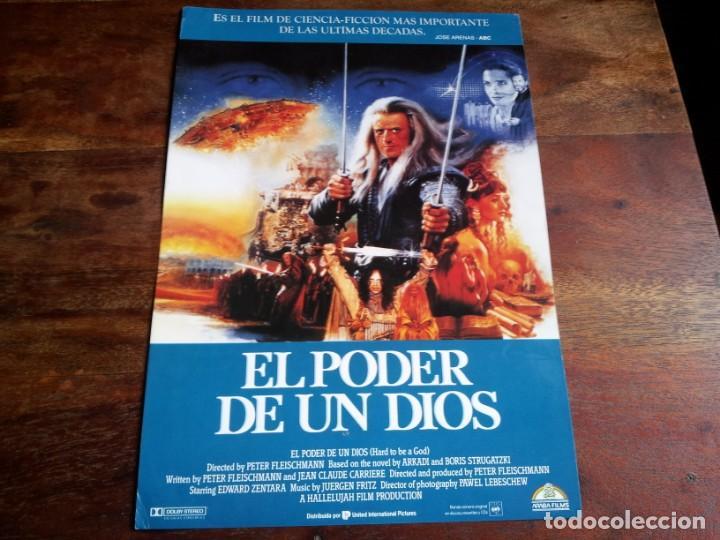 EL PODER DE UN DIOS - EDWARD ZENTARA, HUGUES QUESTER, ANNE GAUTIER - GUIA ORIGINAL ARABA AÑO 1989 (Cine - Guías Publicitarias de Películas )