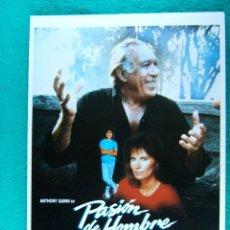 Cine: PASION DE HOMBRE-JOSE ANTONIO DE LA LOMA-ANTHONY QUINN-R J WILLIAMS-VICTORIA VERA-4 PAGINAS-1989. . Lote 194509013