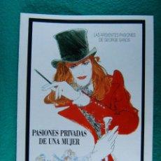 Cine: PASIONES PRIVADAS DE UNA MUJER-IMPROMPTU-JAMES LAPINE-JUDY DAVIS-HUGH GRANT-EMMA THOMPSON-8 PAG-1990. Lote 194509943