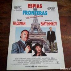Cine: ESPIAS SIN FRONTERAS - GENE HACKMAN, MIKHAIL BARYSHNIKOV - GUIA ORIGINAL U.I.P AÑO 1991. Lote 194527443
