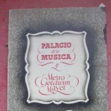 Cine: GUIA LO QUE EL VIENTO SE LLEVO EXCLUSIVA DE 20 PGS EDITADO POR EL PALACIO DE LA MUSICA Y LA METRO. Lote 194570787