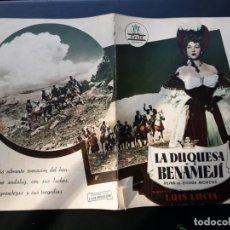 Cine: LA DUQUESA DE BENAMEJÍ, AMPARO RIVELLES, DE LUIS LUCIA, JORGE MISTRAL, CIFESA. Lote 194596466