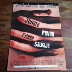 Cine: JUNGLE FEVER FIEBRE SALVAJE - ANNABELLA SCIORRA,WESLEY SNIPES,SPIKE LEE GUIA ORIGINAL U,I,P AÑO 1991. Lote 194627288