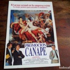 Cine: PROMOCION CANAPE - GRACE DE CAPITANI, THIERRY LHERMITTE,MICHEL SARDOU - GUIA ORIGINAL U,I,P AÑO 1990. Lote 194627576
