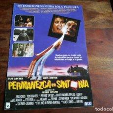 Cine: PERMANEZCA EN SINTONIA - JOHN RITTER, PAM DAWBER,JEFFREY JONES - GUIA ORIGINAL TRI PICTURES AÑO 1992. Lote 194628108