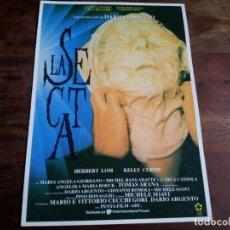 Cine: LA SECTA - KELLY CURTIS, HERBERT LOM, MARIANGELA GIORDANO - GUIA ORIGINAL U.I.P AÑO 1991. Lote 194628526