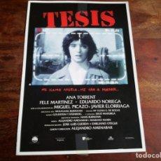 Cine: TESIS - ANA TORRENT, FELE MARTÍNEZ, EDUARDO NORIEGA, A. AMENABAR - GUIA ORIGINAL U.I.P AÑO 1996. Lote 194628700
